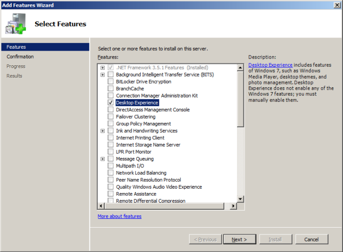 KB220: How to: Install the Desktop Experience feature | Omnivex