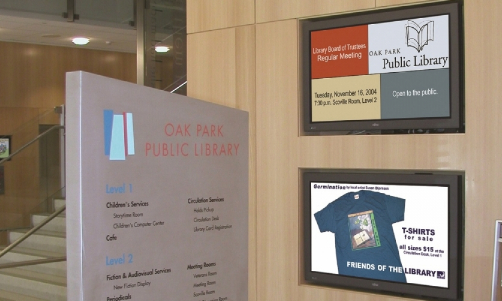 Oak Park Library - Communications Screens