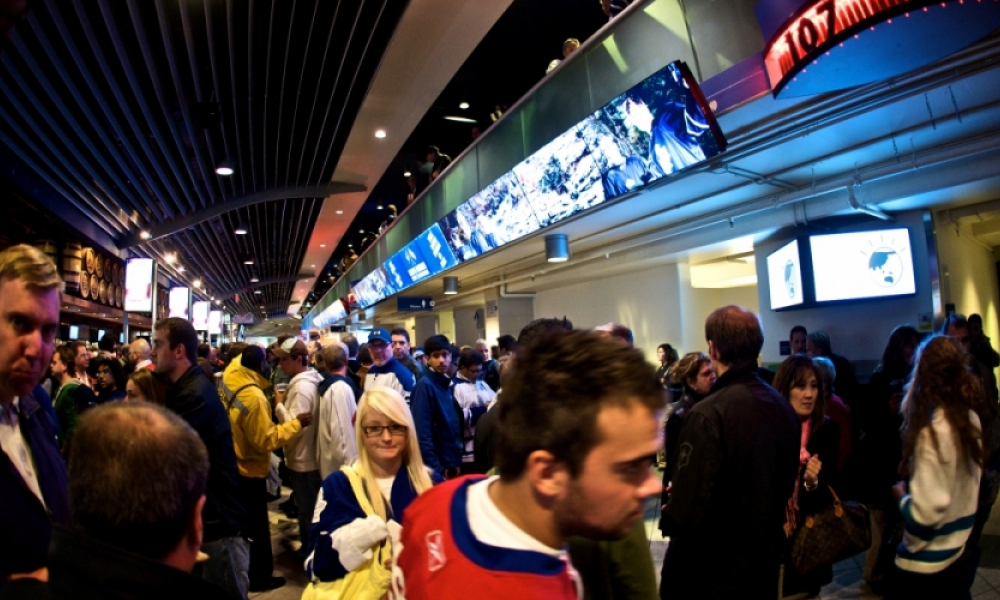 digital screens at Maple Leaf Sports & Entertainment's Air Canada Centre