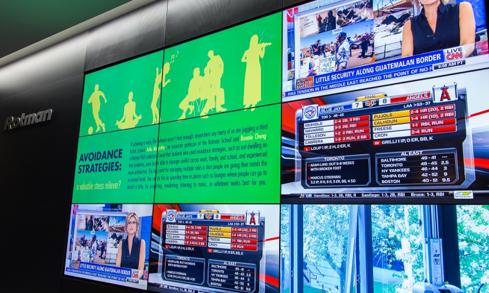 Omnivex Digital Signage Software at Rotman School of Management