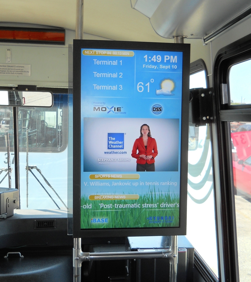 digital screen on bus