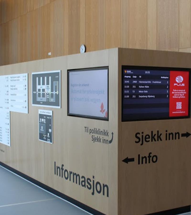 informational digital screens