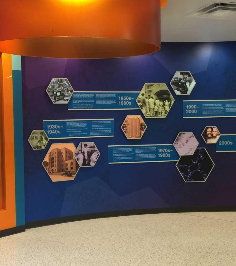 digital screen in healthcare facility