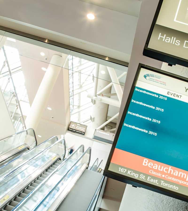 digital screen in convention centre
