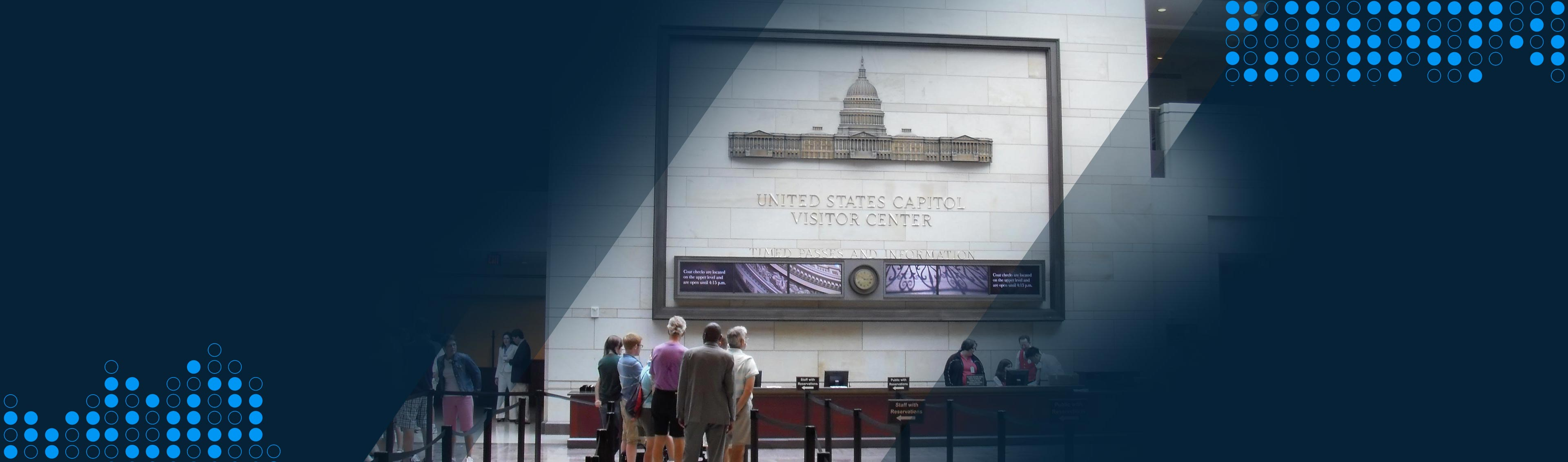 digital screens in government building