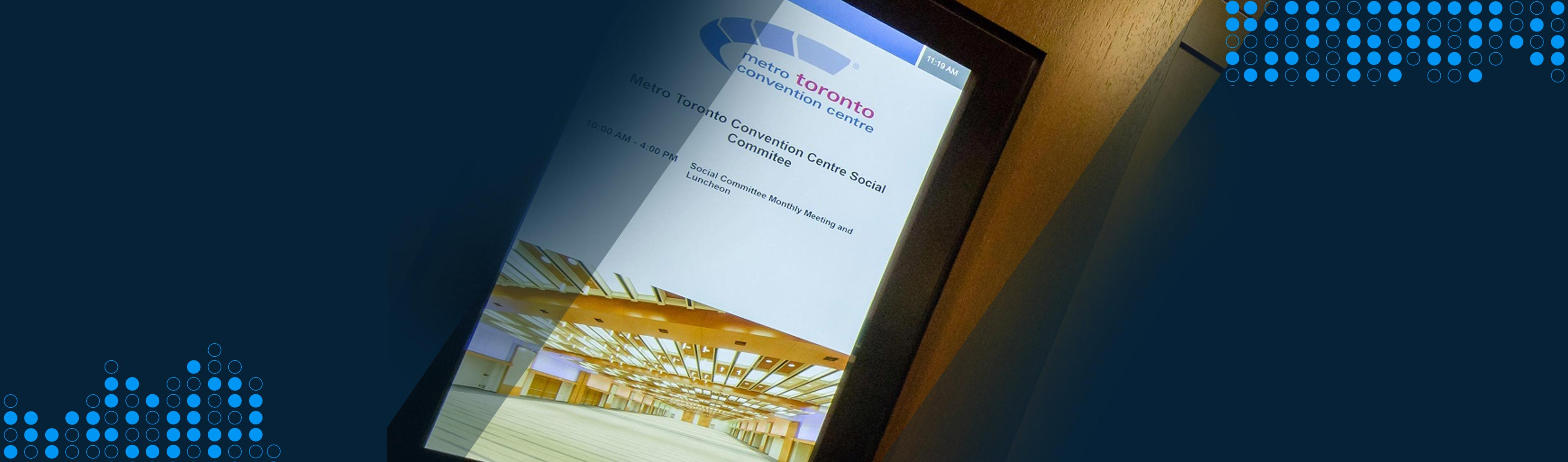 digital screen in hospitality venue