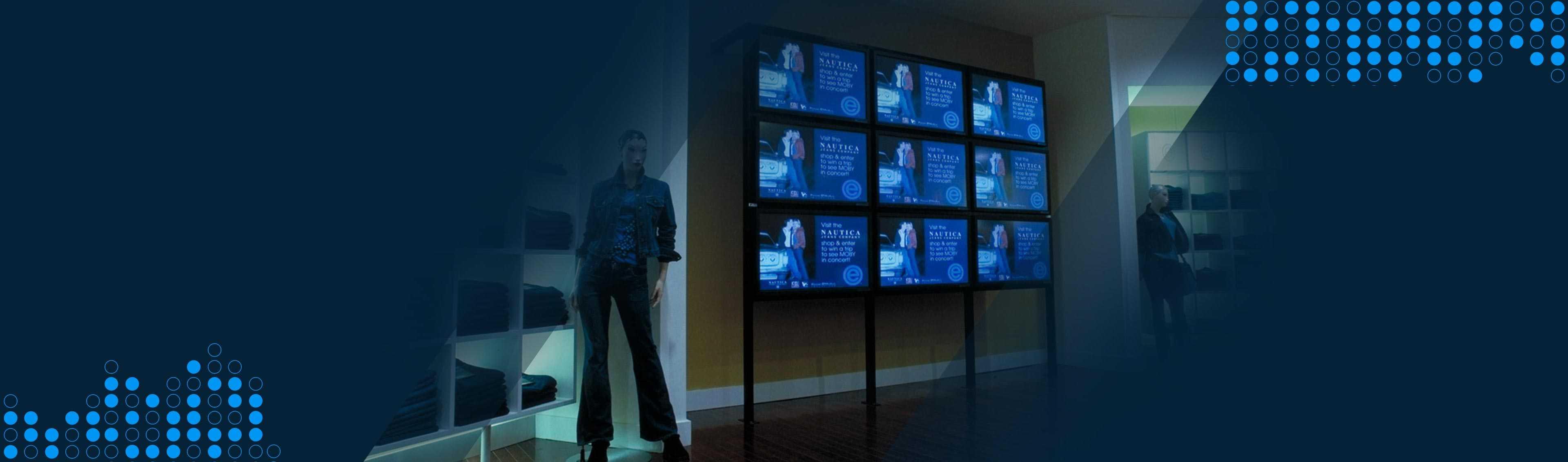 digital screens in retail store