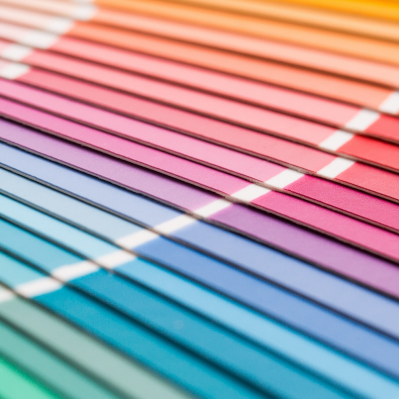 array of color chips