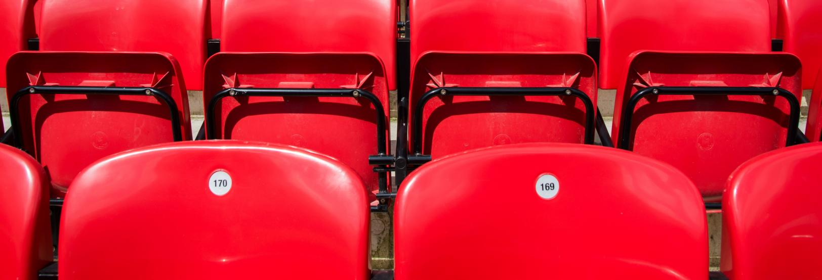 stadiums with red seats