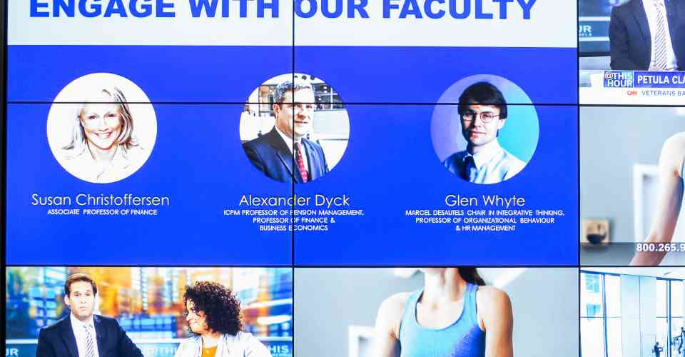 videowall at Rotman School of Management - University of Toronto