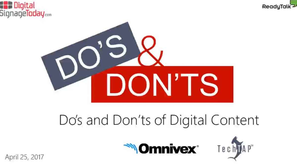 Webcast - The Dos and Don'ts of Content Design