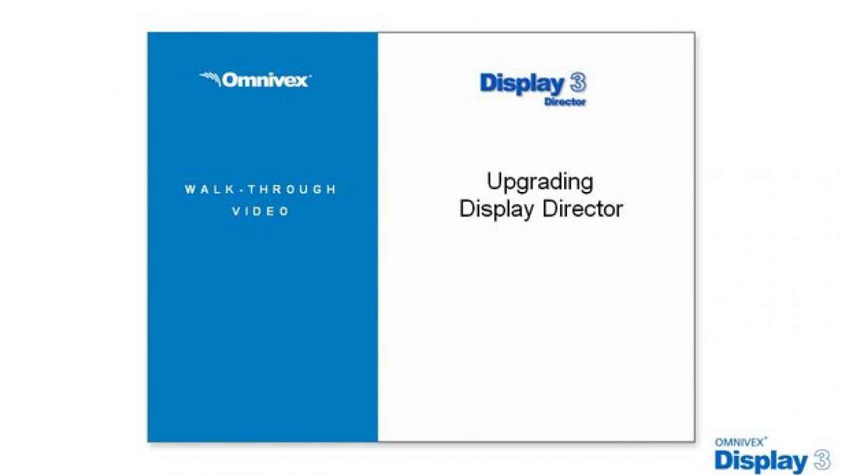 Upgrading Display Director