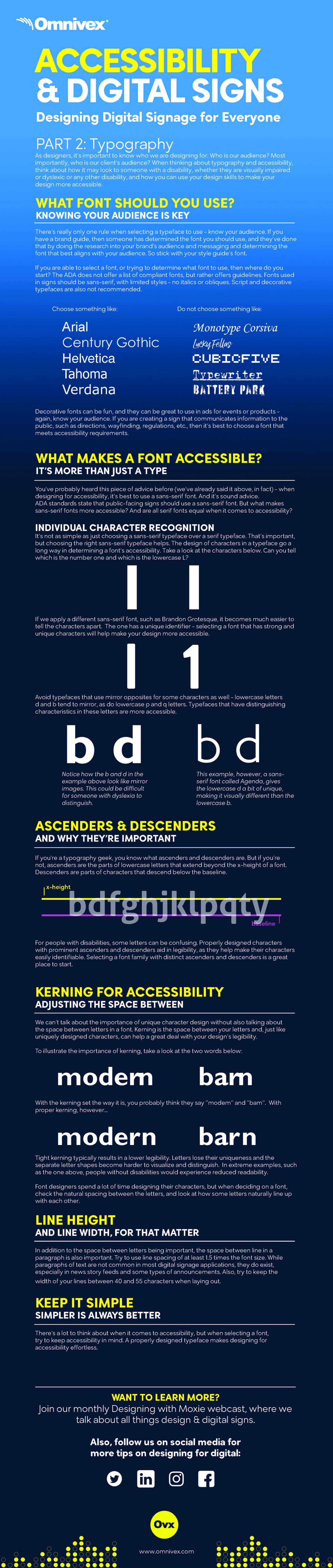 accessibility in design - typography infographic